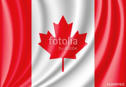 """Download the royalty-free vector """"waving flag of canada"""" designed by jackreznor at the lowest price on Fotolia.com. Browse our cheap image bank online to find the perfect stock vector for your marketing projects!"""