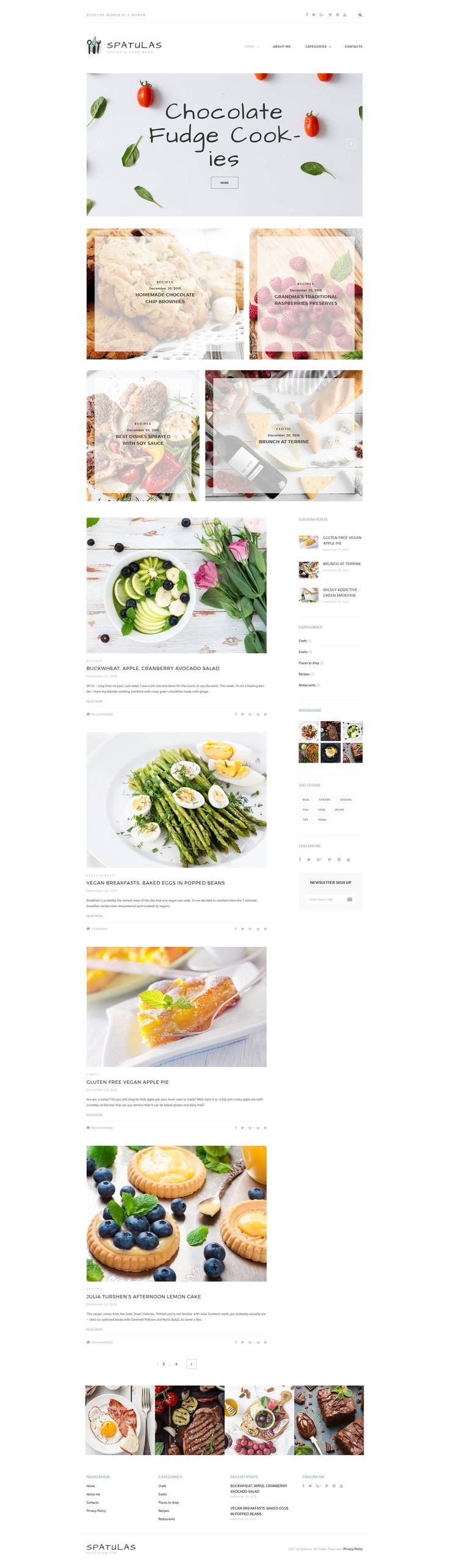 Food And Beverages Creative Blog WordPress Theme