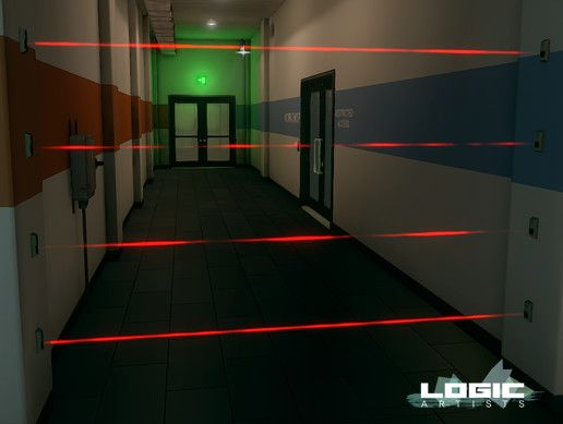Laser Beam Tripwire Shader #tCubedLibrary #PAID | Unity Game