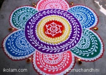 20 Best Diwali rangolis | www.iKolam.com