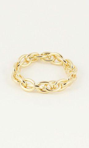 GOLD CHUNKY LINK BRACELET | PUBLIK #jewelry #bracelet