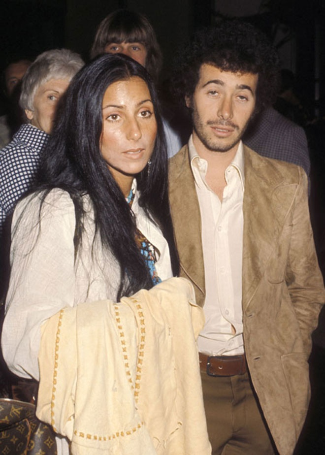 Cher & David Geffen when they were dating in the 70s
