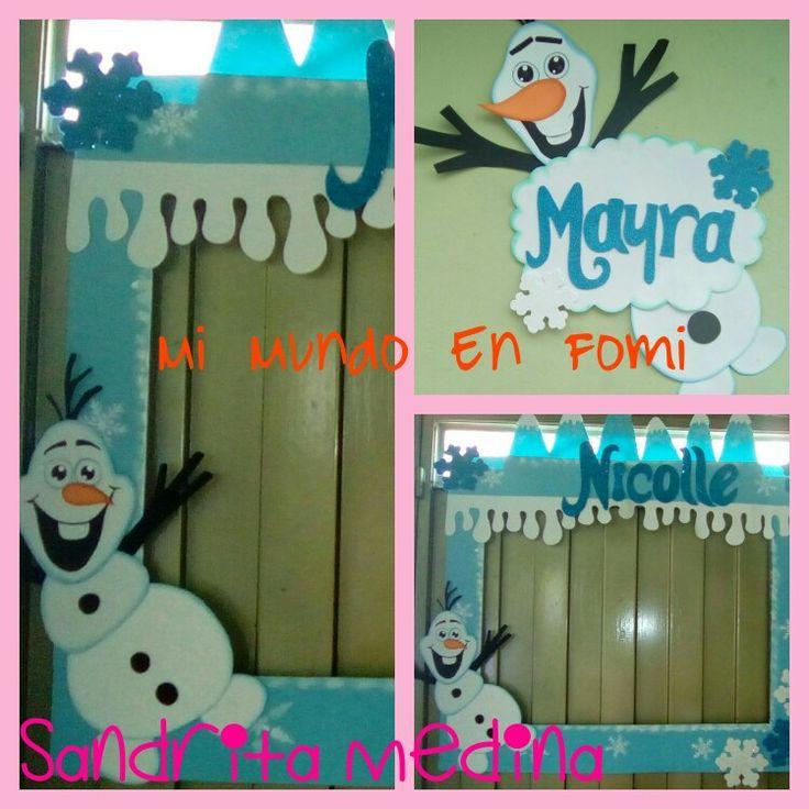 Marco Decorativo Frozen en foami