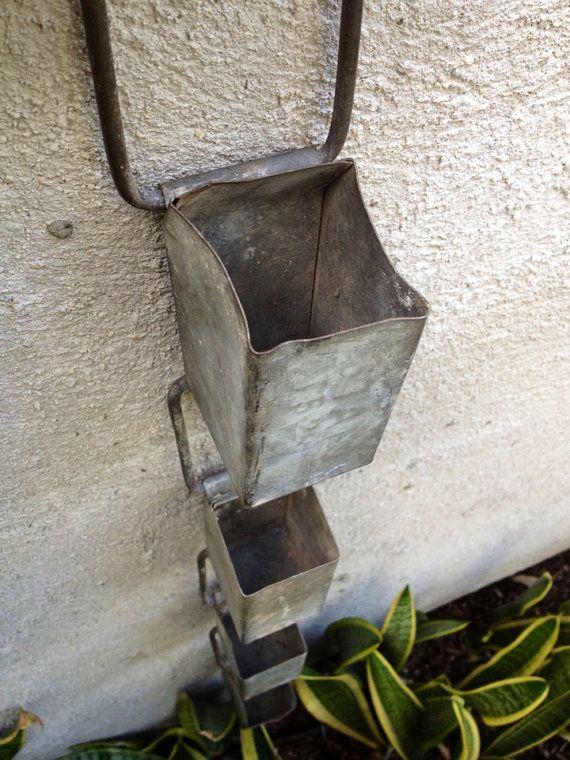 Vintage Industrial Galvanized Rain Chain by greencycledesignLA, $55.00