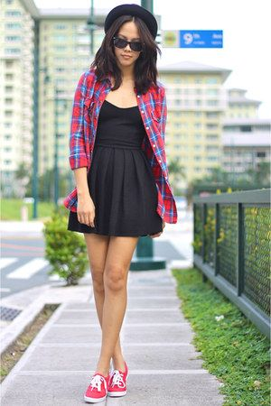 Black-topshop-dress-topshop-top-red-keds-sneakers