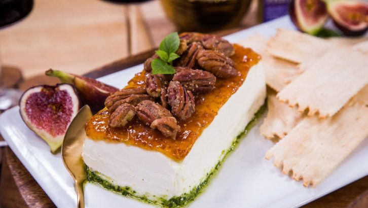 17 best vegetarian images on pinterest hallmark channel family make a goat cheese pesto fig cheesecake for an easy appetizer tune into weekdays at on hallmark channel forumfinder Choice Image