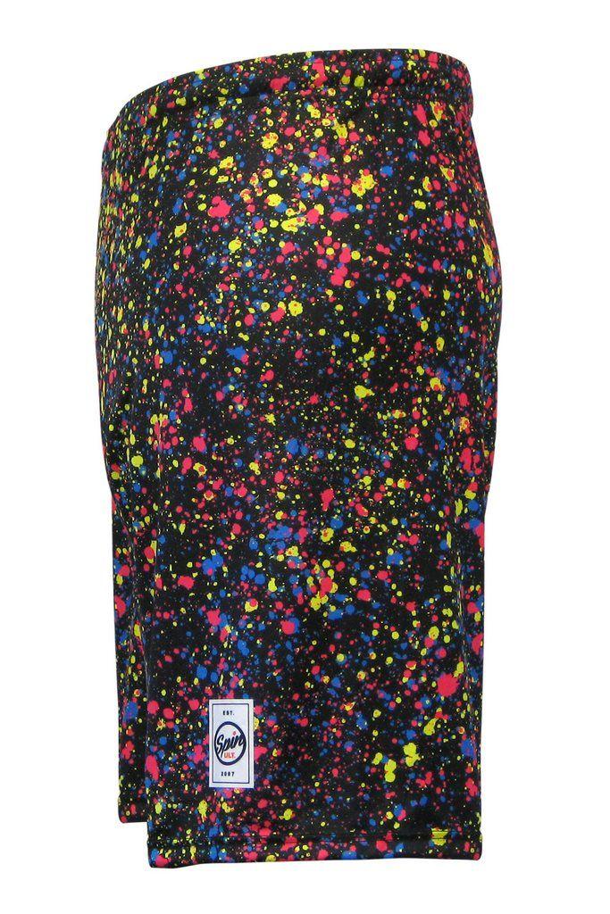Splatter Paint Full Sub Shorts