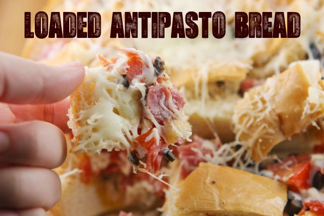Loaded AntipastoBread | pipandebby.com