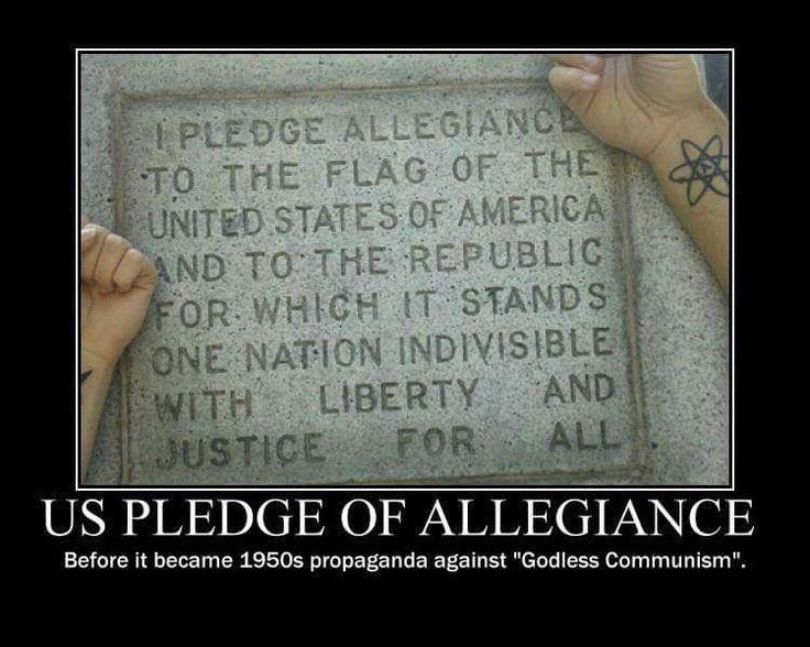 The real (original) Pledge of Allegiance