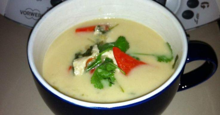 Tom Kha Gai - a Thai chicken and coconut milk soup (Paleo)