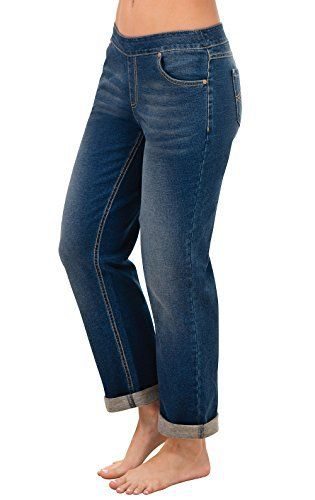 New Trending Denim: PajamaJeans Womens Boyfriend Stretch Knit Denim Jeans in Bluestone,Medium / 8/10,Bluestone Wash. PajamaJeans Women's Boyfriend Stretch Knit Denim Jeans in Bluestone,Medium / 8/10,Bluestone Wash   Special Offer: $49.99      155 Reviews PajamaJeans Boyfriend jeans are made for those days when the curve-hugging styles just won't cut it. They feature a relaxed, unrestrictive...