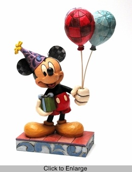 Jim Shore Disney Mickey Mouse Birthday Figurine Thank you!! <3