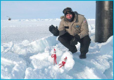 Navy Submarine, the USS Hampton, visits the North Pole   Elf on the Shelf Blog