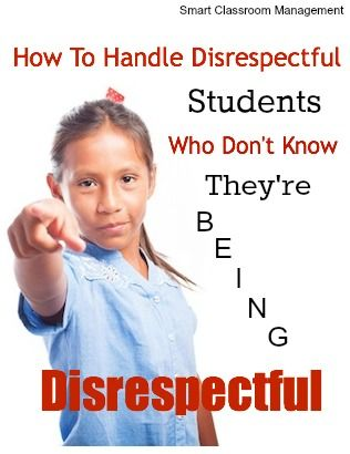 This was a great article on helping kids understand what it means to be disrespectful.