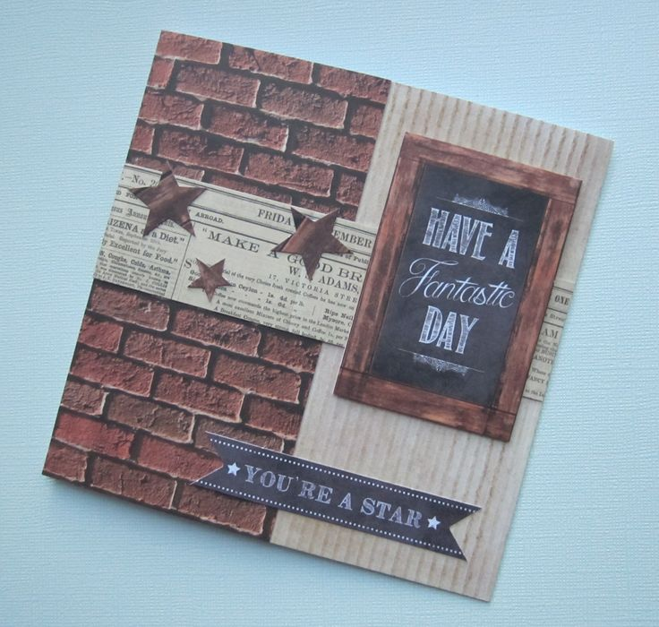 Card Making Male Ideas Part - 28: Card Designed By Kath Woods Using The Man Made Collection By Craftwork Cards