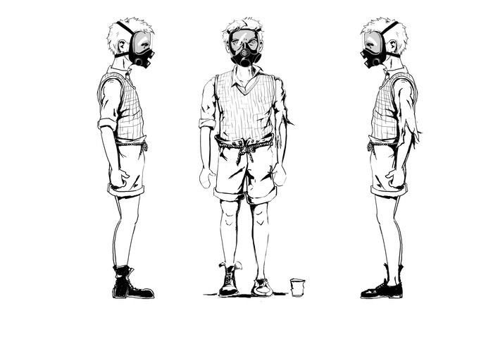 Charachter concepts for The Boy in 'The Can'