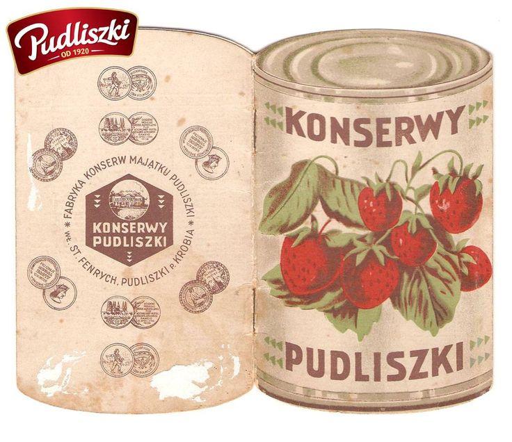 1930r. - Opakowanie konserw Pudliszki #pudliszki #historia
