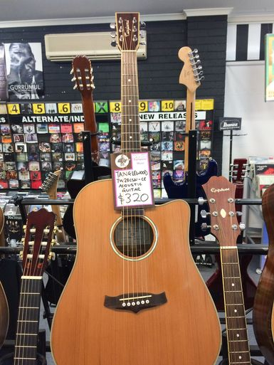 Second Hand Tanglewood TW28CSN-CE Acoustic Guitar - Play's perfectly. This guitar is a steal at this price. Needs no adjusting.