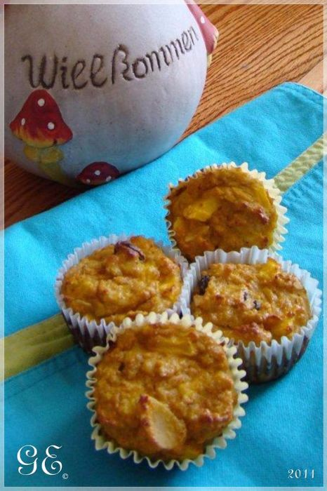 Almás-répás muffin - paleo