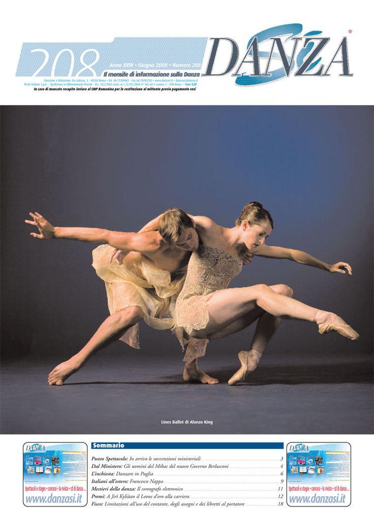 giugno 2008 mensile DanzaSì - Lines Ballet di Alonso King