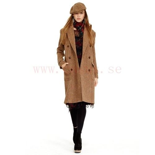 Kvinnor - Lammull Tweed Coat - Ytterkläder Dam - RalphLauren - Tweed