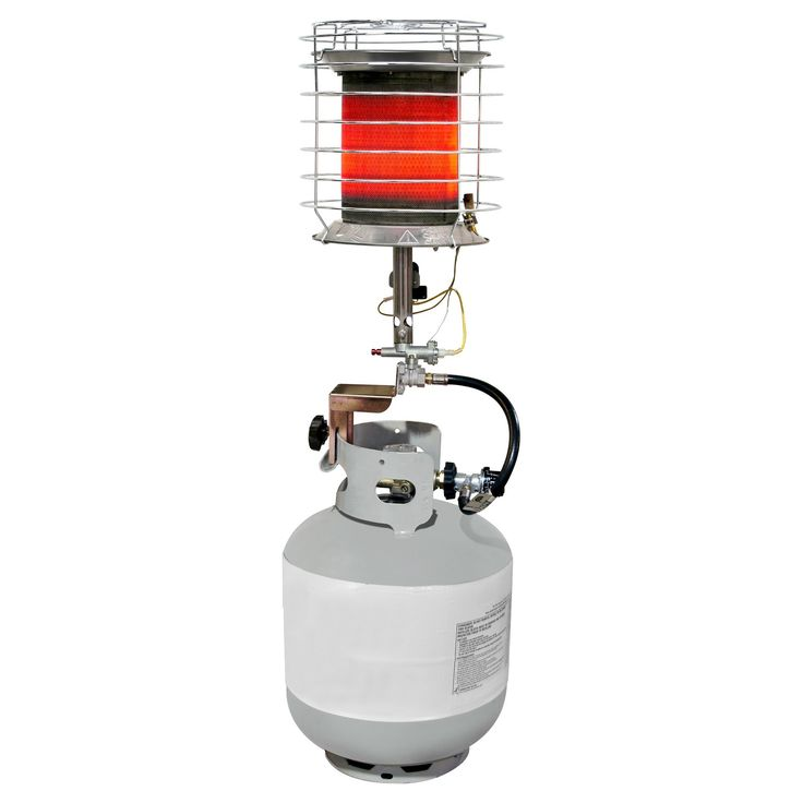 Dyna-Glo 40K LP 360° Tank Top Heater, Light Silver (With
