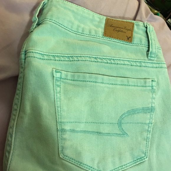 SALE TODAY! Teal, aqua American Eagle Jeans spring These jeans have a nice fit, always make my tush look nice  perfect for spring, date, office, play, anything really!! MAKE ME AN OFFER American Eagle Outfitters Jeans Skinny
