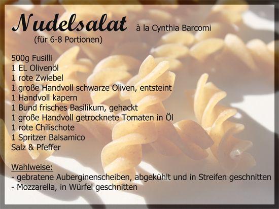 Nachdem ich im September den unglaublich leckeren Risottosalat  von Frau Barcomi ausprobiert habe, stand noch ihr Rezept für Nudelsalat auf...