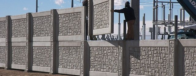 Stonetree concrete security fence walls