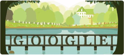 // Google doodle for L.M. Montgomery's 141st birthday