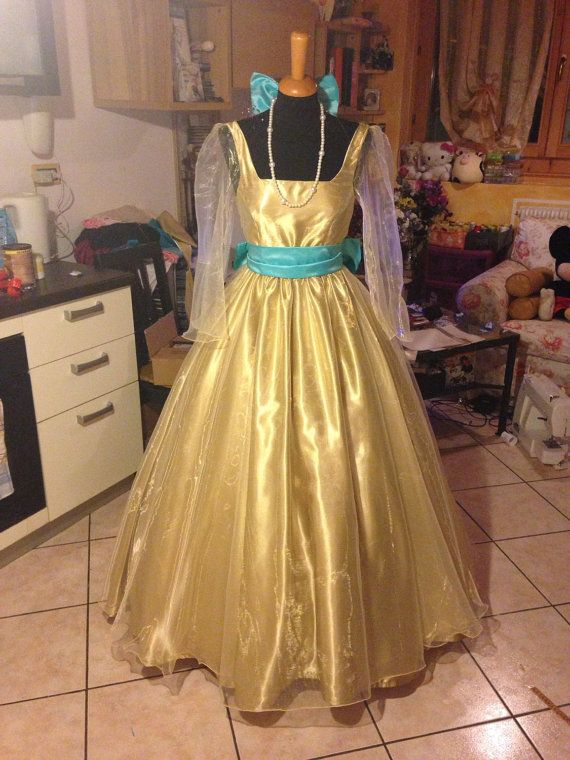 Anastasia movie cartoon yellow dress by liliemorhiril on Etsy