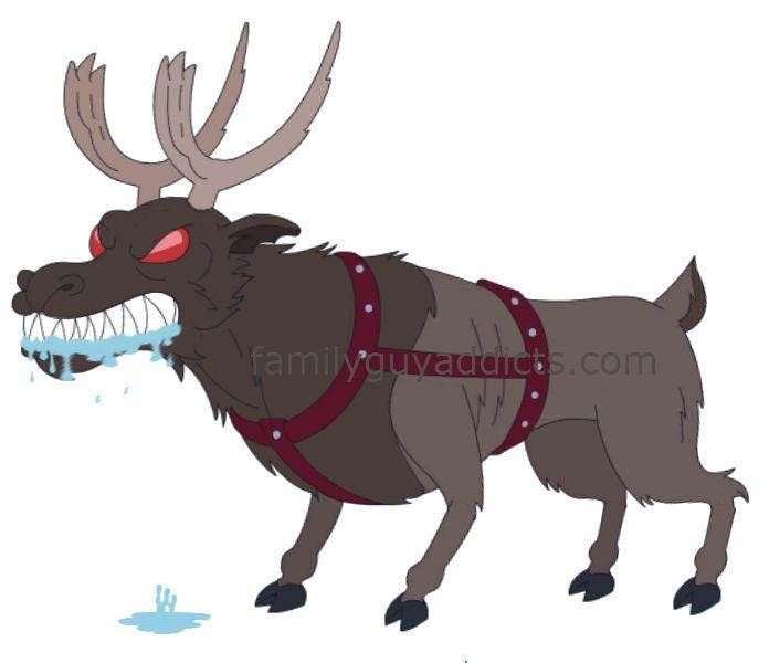 Family Guy's Rabid Carnivorous Reindeer, Christmas Episode Art