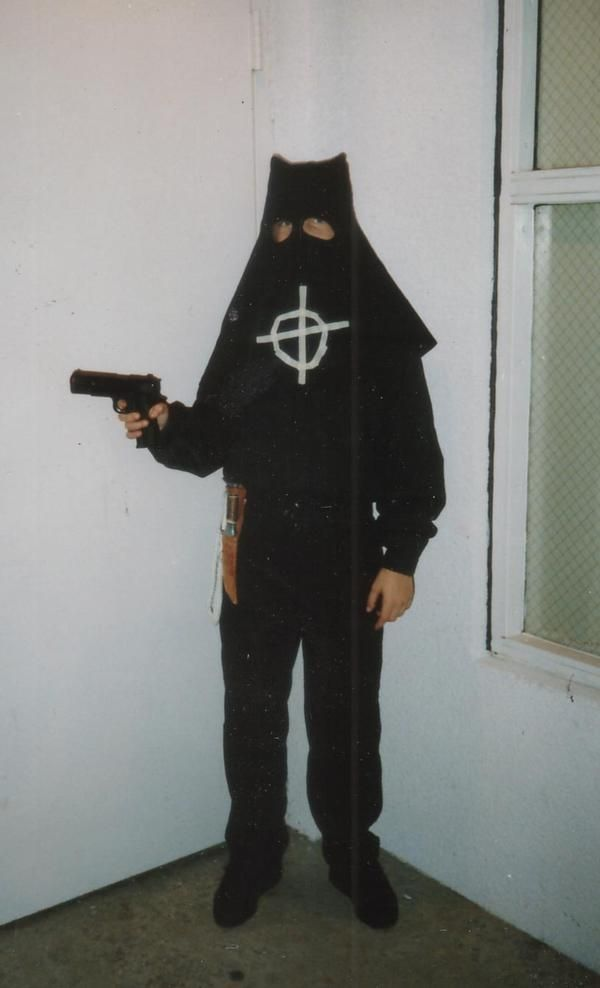 10 year old Stanton LaVey as The Zodiac Killer for Halloween 1988