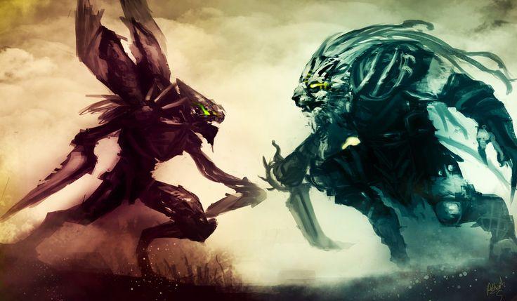 League of Legends Rivals: Rengar Vs Khazix by ArtisticPhenom.deviantart.com on @deviantART
