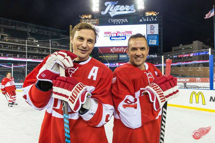 Yzerman and Federov, alumni game at Comerica Park. www ...