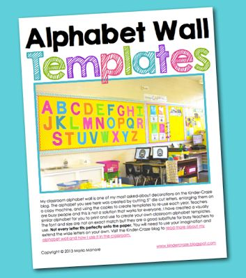 2142 best images about bulletin boards on pinterest for Letters for bulletin boards templates