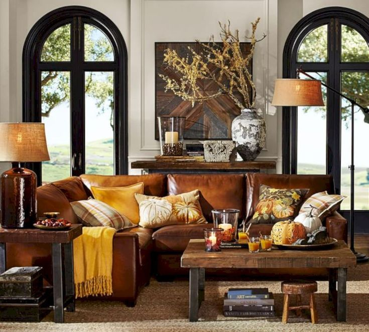 Modern Leather Living Room Furniture Ideas (53