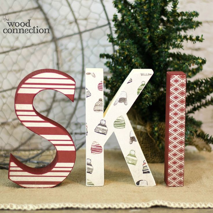Ski Letters Christmas Wood Crafts Winter Crafts For