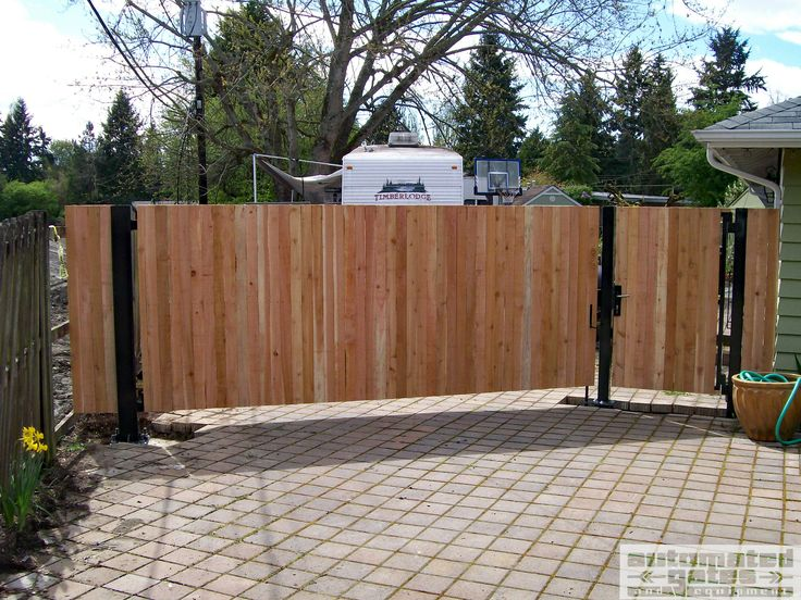 41 best wood gates by automated gates images on pinterest for Single wooden driveway gates