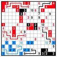Color Link-a-Pix - step 2 (A)