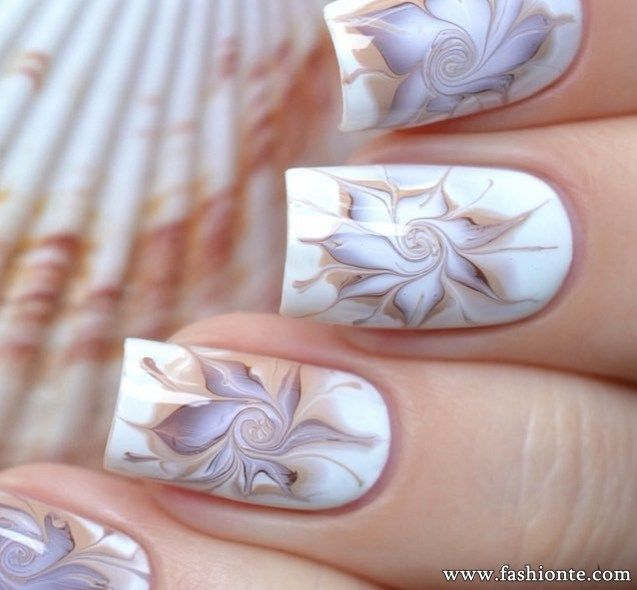 18 Trendy Marble Nail Art For Christmas . | Fashionte