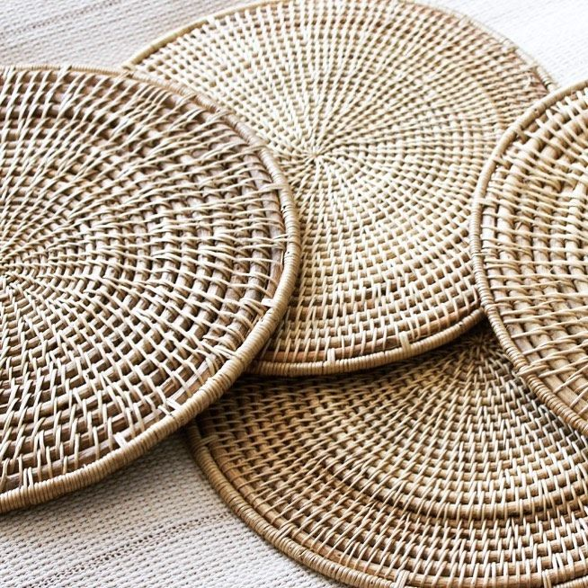 Raw Label On Instagram These Beautifully Crafted Placemats Are Woven Together By Hand Using Materials Sourced Directly From Placemats Weaving Textiles Woven