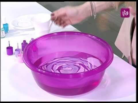 الرسم على الزجاج باستخدام طلاء الأظافر - فاي سابا - حرف يدوية