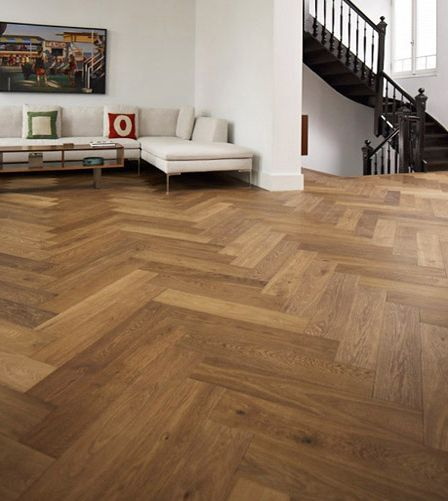 £42 Richmond Engineered Herringbone Click Parquet Oak 148mm x 15mm Fumed Oiled Wood Flooring