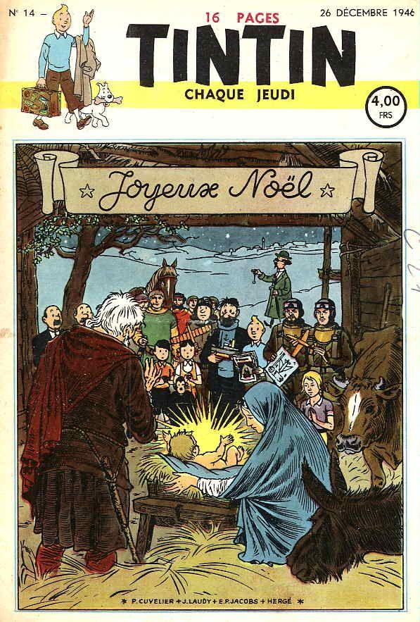 Journal de TINTIN édition Belge N° 14 du 26 Décembre 1946 - Joyeux Noël