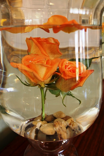 DIY submerged flowers...I SO love this and will be making this soon!