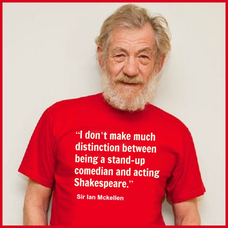 Quotes By Shakespeare About Acting : Ian mckellen movie actor quote film