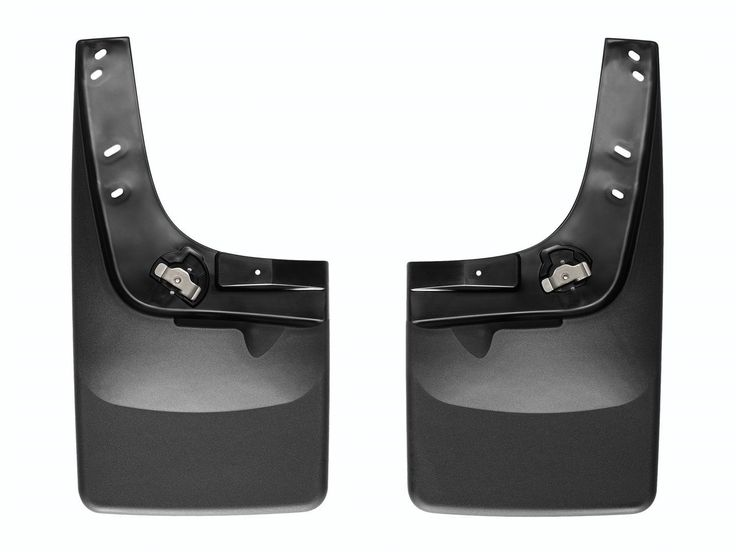 """WeatherTech 110012-120008 Series No Drill MudFlaps Front Rear Set - MudFlap - Laser Measured for a Perfect Fit The WeatherTech(R)MudFlap - Laser Measured for a Perfect Fit set literally """"mounts-in-minutes(TM)"""" (in most applications ) without the need for wheel/tire removal, and most importantly - without the need for drilling into the vehicle's fragile painted metal surface! Contoured specifically for each application and molded from a proprietary thermoplastic resin, the WeatherTech(R)…"""