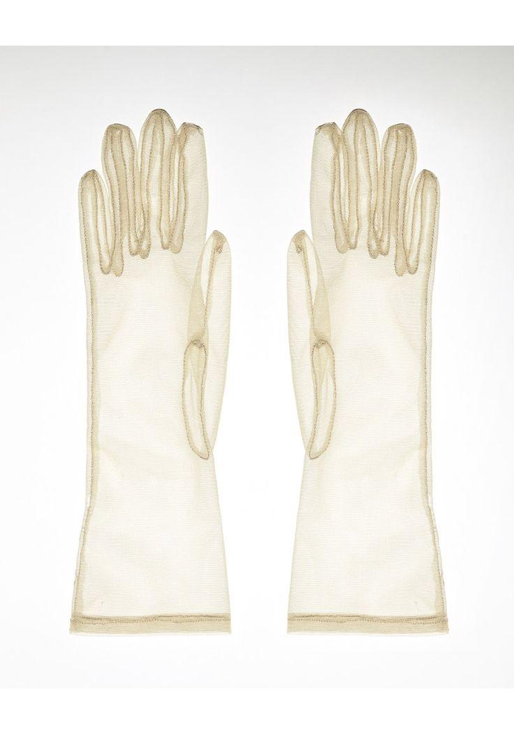 Tulle Gloves by Simone Rocha. From the runway; delicate, ultra-feminine sheer tulle gloves.