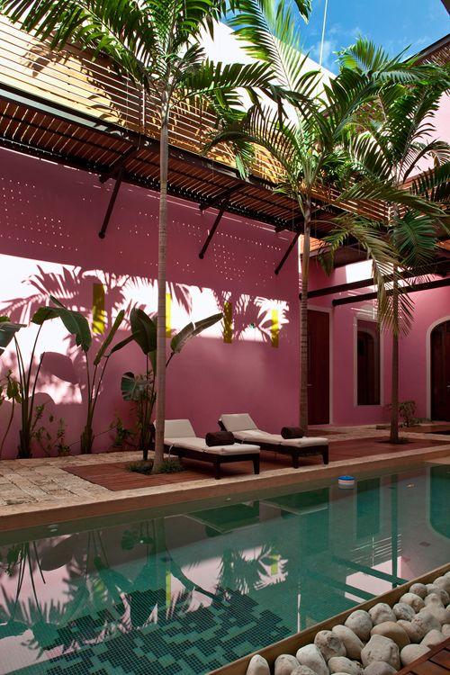 Décoration rose et chocolat, combine détonant à l. a. mexicaine